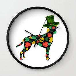 Happy St Patrick's Day ! | Brazilian terrier (Terrier brasileiro) dog, Animals Wall Clock