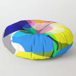 Multicolored abstractions Floor Pillow