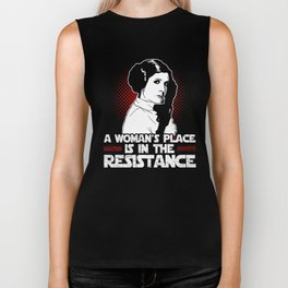 A Woman's Place Is In The Resistance Biker Tank