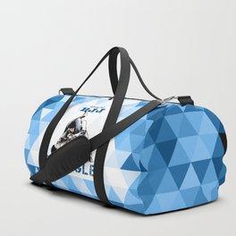 Blue Bjj Triangle choke. Jiu-jitsu grappling Duffle Bag