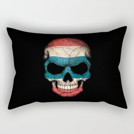 Dark Skull with Flag of Thailand Rectangular Pillow
