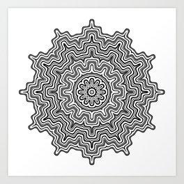 Mandala black 6 Art Print