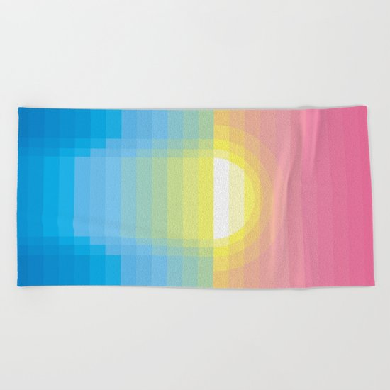 Sunset ~ strips Beach Towel