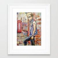 niall Framed Art Prints featuring Niall by Iván Gabela