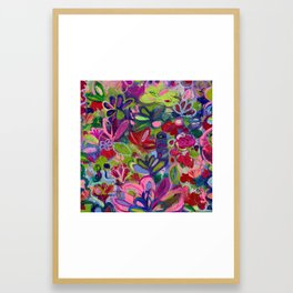 Once upon a wish - Intuitive flower painting - Mixed media Framed Art Print