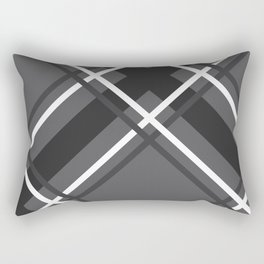 Jumbo Scale Men's Plaid Pattern Rectangular Pillow