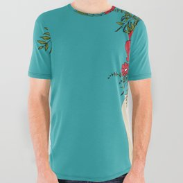 Blooming Red All Over Graphic Tee
