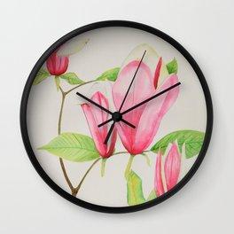 Magnificent Magnolia Wall Clock