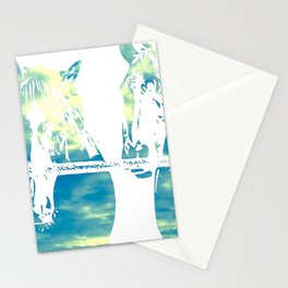 Two Horses and Sky Stationery Cards