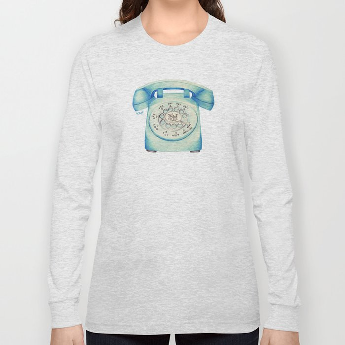Rotary Telephone - Ballpoint Long Sleeve T-shirt