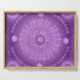 """Purple & Mallow Vault Mandala"" (Silver stars) Serving Tray"
