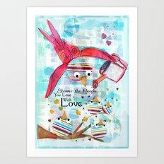 Shower of Love Art Print