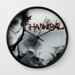 Will & Hannibal Masked Wall Clock