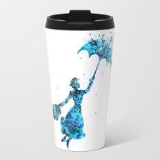 The Magical Nanny - Splashes of Blues Travel Mug