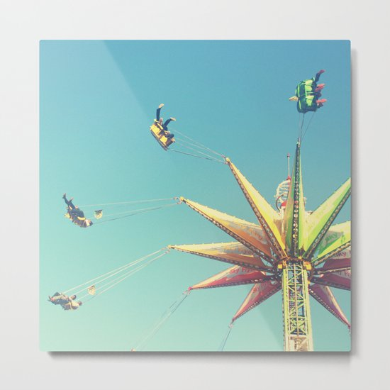 Flying Chairs at the Carnival Metal Print