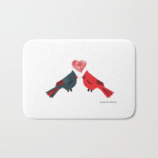 Birds In Love Bath Mat