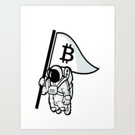 Bitcoin Astronaut Art Print