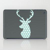 calendars iPad Cases featuring Deer head, art, polka dot, modern, vintage by Shabby Studios Design & Illustrations ..