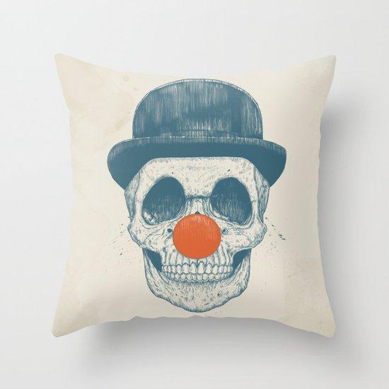 Dead clown Throw Pillow
