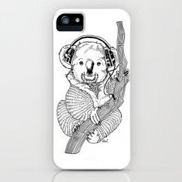 koala loves music iPhone Case