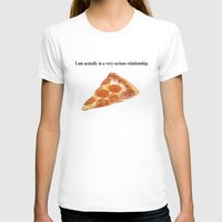 pizza T-shirts featuring Pizza by Wealthy Loser