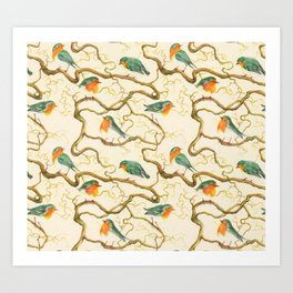 Robin in the Corkscrew Art Print