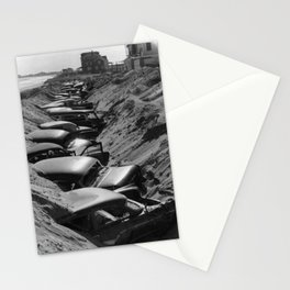 Cars Buried at Andrea Hotel - Misquemicut Beach, Westerly Rhode Island after 1954 Hurricane Carol Stationery Cards