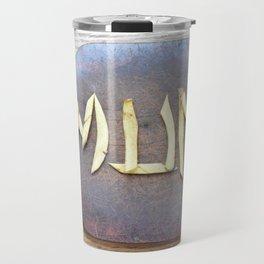 Mother's Day design with banana skin. Travel Mug