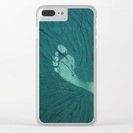 Footprint Clear iPhone Case