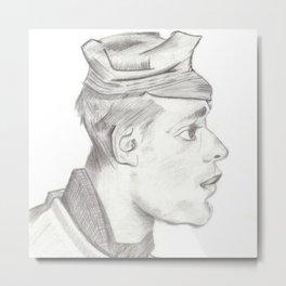 Head of a peasent Metal Print