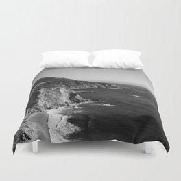 Monochrome Big Sur Duvet Cover
