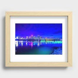 Little Rock Skyline Recessed Framed Print