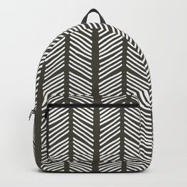Hand Drawn Sketched Chevrons on Charcoal Backpack