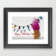 Troll - Happy Holidays! Framed Art Print