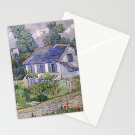 Houses in Auvers Stationery Cards