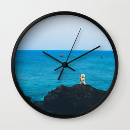 Ly son island in the blue sea Wall Clock