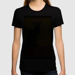 Le Chat D'Amour Black Cat Framed Vector T-shirt