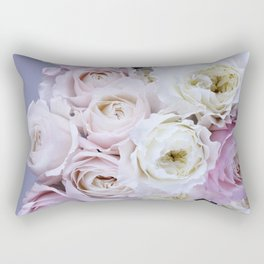 Pastel Pink Flowers Rectangular Pillow