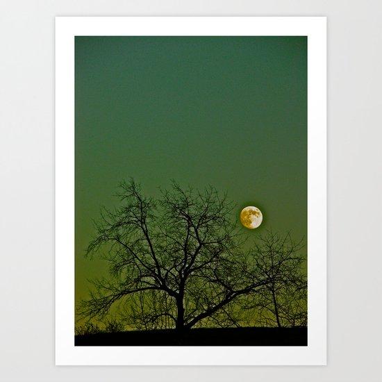 Tangled Tree Moon Art Print