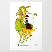 lama Art Prints featuring Lama by ART OF SOOL