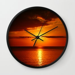 A  Beautiful Day´s End Wall Clock