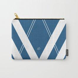 Blue V 2 #retro #society6 #abstract #artdeco #minimal #art #design #kirovair #buyart #decor #home Carry-All Pouch