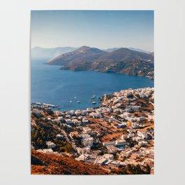 Leros Island Landscape Poster