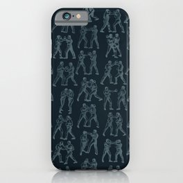 Round One STEEL BLUE / Vintage boxers iPhone Case