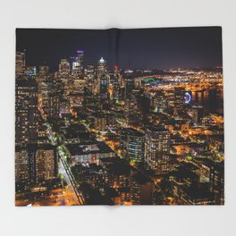 Seattle Nights Throw Blanket