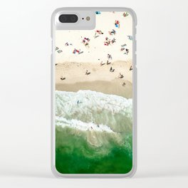 miami beach coastline Clear iPhone Case