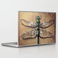 dragonfly Laptop & iPad Skins featuring Dragonfly  by Werk of Art