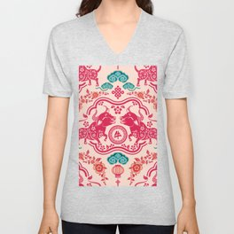 2021 Year of the Ox Chinese New Year Unisex V-Neck