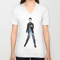 elvis V-neck T-shirts featuring Elvis by Maxime Zech