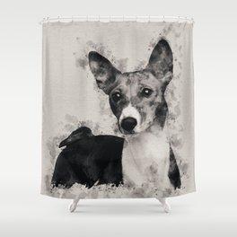 Basenji Shower Curtain